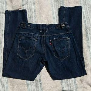 Men's levi's jeans 511 33 x 32 dark adjustable